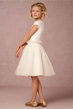 white, tulle flower girl skirt   Giselle Skirt from BHLDN