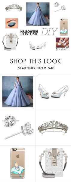 """""""Cinderella Costume"""" by anotherstudent on Polyvore featuring Casetify, Dolce&Gabbana, halloweencostume and DIYHalloween"""