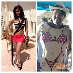 Sunny Leone sent 'bikini' t-shirts to the birthday boy Milap since he made her wear bikinis for most of the scenes in Mastizaade (2016) Hindi Movie - http://www.washingtonbanglaradio.com/content/115032715-sunny-leone-takes-bikini-revenge-milap-zaveris-birthday