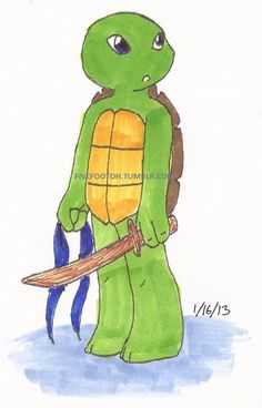 Turtle Tots - Leo by ~fivefootoh on deviantART