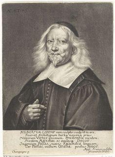Johann Friedrich Leonard | Portret van Hubert Loyens, Johann Friedrich Leonard, 1674 - 1676 | De rechtsgeleerde en geschiedschrijver Hubert Loyens op 76-jarige leeftijd.