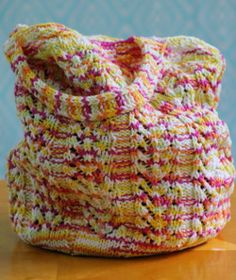 Colorful Chevron Bag | AllFreeKnitting.com
