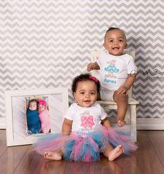 Twinsy Twinkies Boy Girl Twins First Birthday 1st by AuntieDonnas
