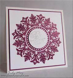 Razzleberry medallion. Love the elegant embossing!