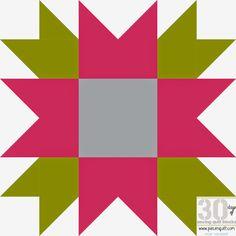 Piece N Quilt: How to: Flower Star Quilt Block - 30 Days of Sewing Quilt Blocks- Star Version!