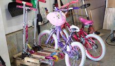 DIY Pallet Bike Rack And Scooter | 99 Pallets