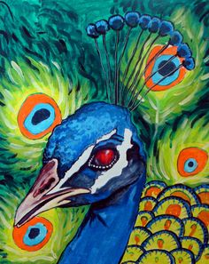 photo of peacock painting - Yahoo! Search Results