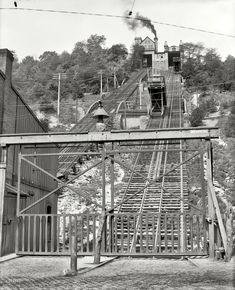 The old Price Hill Incline, Cincinnati, OH, was built in 1874 and originally operated with steam, but in 1928, it switched to electricity and remained the only one in the region to operate with this form of energy. It broke down in 1943 and was abandoned. My dad was old enough to remember this.