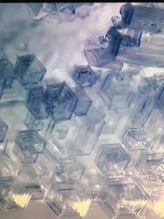 Permafrost ice crystals / Yakutsk, Russia. Taken from tv. Amazing structures.