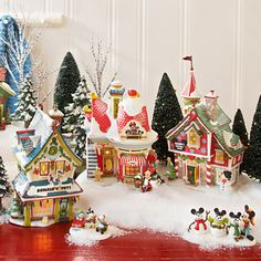 Department 56 Collectible Disney Figurines - Mickey's Christmas ...