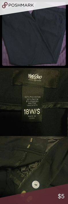 Professional black slacks Nice pair of pants. Hem fell out of one leg. Clothes pins holding it. Great pants! I just don't know how to fix them. Mossimo Supply Co. Pants Trousers