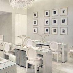 Color,Las Vegas salon nestled in Caesars Palace design interior reception areas spas beauty salons Modern Nail Salon, Nail Salon Design, Nail Salon Decor, Beauty Salon Decor, Beauty Salon Design, Beauty Salon Interior, Luxury Nail Salon, Salon Decorating, Beauty Bar