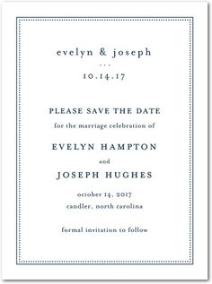 Impeccable Style - Signature White Textured Save the Date Cards - Jenny Romanski - Black : Front