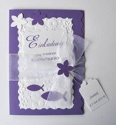 Einladungskarten Konfirmation-Kommunion-Firmung von CV Kartenwelt auf DaWanda.com