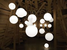 wood and lights