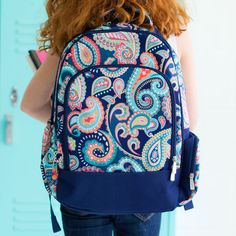 Emerson Paisley Monogrammed Backpack ~ Girls' Monogrammed Backpack ~ Girls Backpack ~ Personalized Backpack ~ Girls Embroidered Backpack
