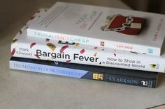 the frugal girl's reading pile
