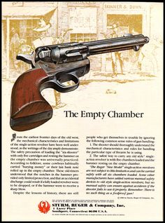 1981 RUGER New Model Single-Action Revolver AD : Other Collectibles at GunBroker.com