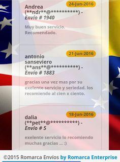 Más clientes satisfechos con nuestro servicio. ¡Únete y forma parte de esta gran familia #RomarcaEnvios! #EnvioDeDinero