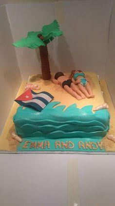 Cuban beach cake