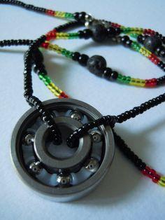 Unisex Roller Derby necklace by Sharper Spectrum Art on Etsy