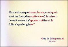 """Guy de Maupassant """"La peur"""""""