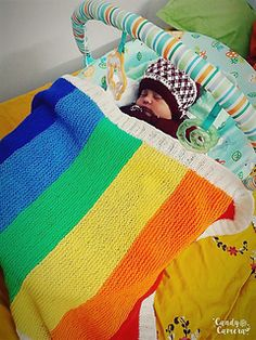 Ravelry: Rainbow Baby Blanket pattern by Halal Trails