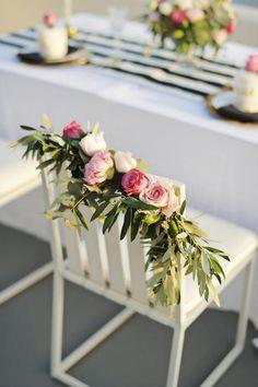 Stylish elopement in Greece | Wedding chair