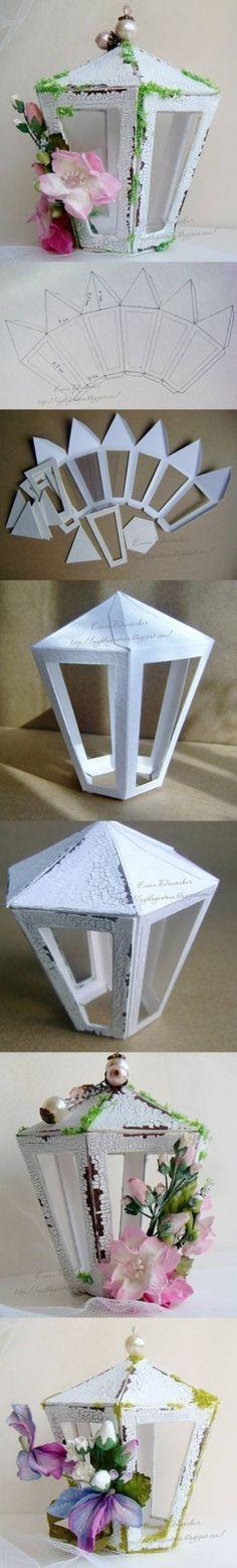 DIY Cardboard Latern Template DIY Cardboard Latern Template by catrulz