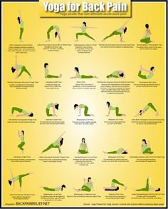 yoga for back pain-gonna have to try some of these