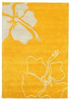 Blooming Lillies Handtufted - Orange Teppich 140x200 > 160,-