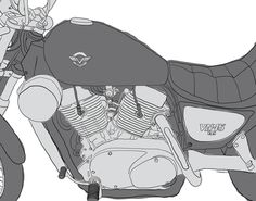Kawasaki VN15. Graphics