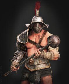 Gladiator, Gers Rother on ArtStation at https://www.artstation.com/artwork/gladiator-228ea4a4-0dce-427a-98e3-4e1ce7efcabe