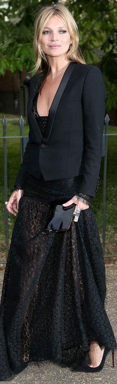 Kate Moss. Tuxedo love