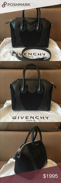Givenchy Antigona Small Black Suede Satchel ! Nib , 100% authentic Givenchy Antigona Black Suede & Leather Small Satchel . No issues ! Stunning high end bag . Sorry , no trading -:(. Comes with a dust bag . $2695 plus tax - retail . Thanks ! Givenchy Bags Satchels