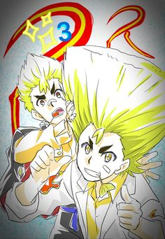 works in the animation of Beyblade Burst,made this awesome art of Rantaro Kiyama next to his younger brother Ranjiro because the 2 brothers appear together for the first time in episode 3 of season What Is Anime, Dark Power, Fans, Bestest Friend, Beyblade Characters, Cartoon Tv, Beyblade Burst, Best Friends Forever, Kawaii