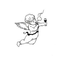 Cupid Angel Tattoo - #angel #Cupid #Tattoo