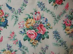 I've bought some beautiful vintage floral fabrics recently, from a variety of places, all of which I hope to put to use over the next few ...