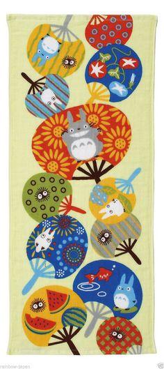 My Neighbor Totoro Gauze Face Towel 34x 80cm Studio Ghibli 03318 From Japan