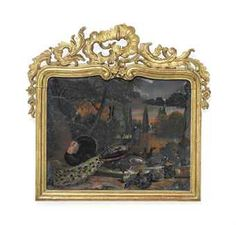 A SWISS REVERSE-GLASS PAINTING DEPICTING BIRDS AND RABBITS AT A FOUNTAIN  MID-18TH CENTURYhttp://www.christies.com/