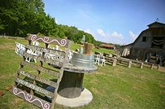 Perfect rustic barn wedding venue