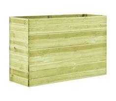vidaXL Jardinera de madera de pino impregnada 150x50x97 cm | vidaXL.es