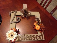 DYI picture frame wreath