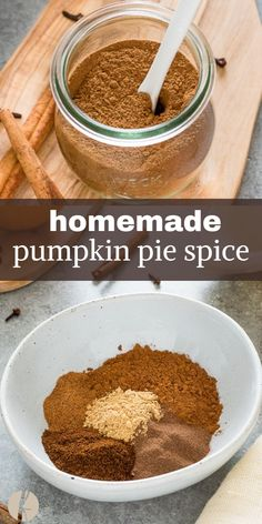 Homemade Pumpkin Pie Spice is the perfect blend of warm spices for amazing pumpkin pie, oatmeal, lattes and so much more! Homemade Pumpkin Pie Spice is the perfect blend of warm spices for amazing pumpkin pie, oatmeal, lattes and so much more! Classic Pumpkin Pie Recipe, Perfect Pumpkin Pie, Pumpkin Pie Recipes, Pumpkin Pie Spice Creamer Recipe, What Is Pumpkin Spice, Homemade Pumpkin Spice Latte, Oatmeal Recipes, Coffee Recipes, Pumpkin Pie Oatmeal