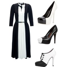 White & black., created by kristina-norrad on Polyvore