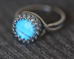 Real Butterfly Wing Ring Blue Morpho Sterling Silver. $35,00, via Etsy.