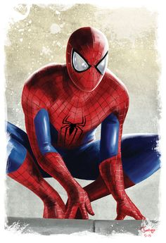spider-man spiderman spidey marvel civil war fan art by artist tony santiago
