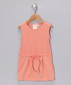 $20. Take a look at this Pink Daphne's Darling Drawstring Dress - Girls by Swanky Baby Vintage on #zulily today!