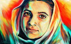 Retrato da Malala