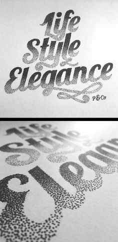 It's typography time once again and here's a new gallery with our latest findings of nice text based designs using typography, calligraphy and lettering. Types Of Lettering, Lettering Styles, Lettering Design, Design Graphique, Art Graphique, Calligraphy Letters, Typography Letters, Typography Inspiration, Graphic Design Inspiration